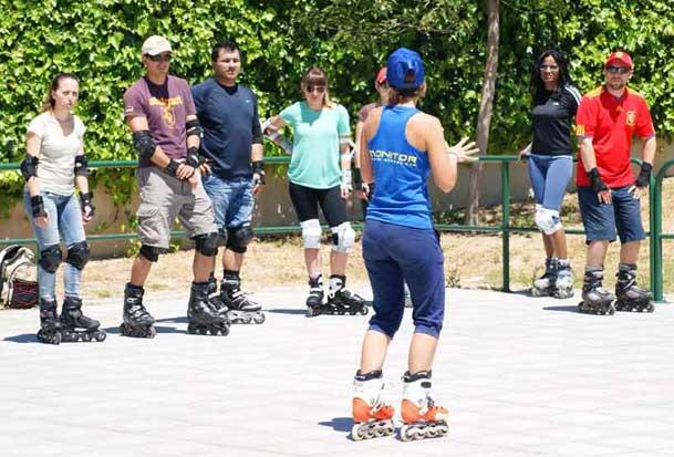 clases patinaje en grupo madrid