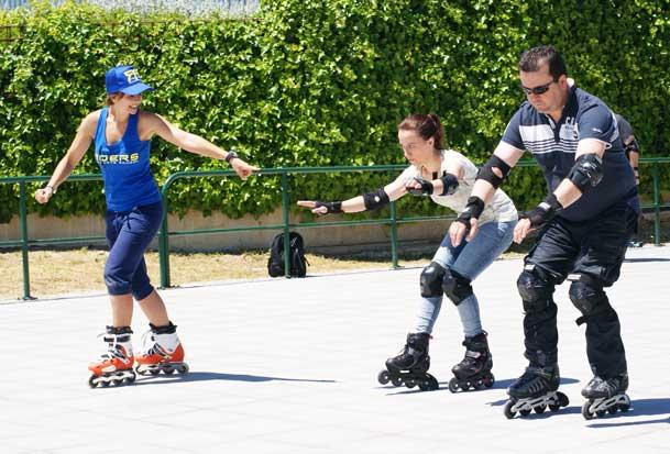 clases patinaje familia